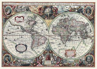 H1065D - Hondius, Hendrik - Nova Totius Terrarum Orbis Tabula