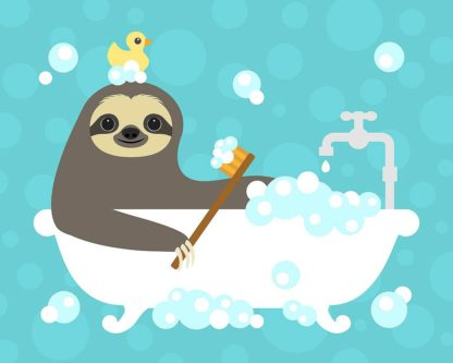 Scrubbing Bubbles Sloth