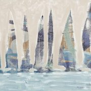 Muted Sail Boats Square II