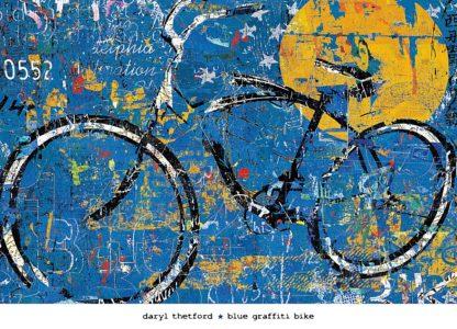 T473 - Thetford, Daryl - Blue Graffiti Bike