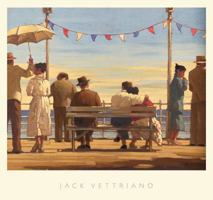 V472C - Vettriano, Jack - The Pier (brown edge)